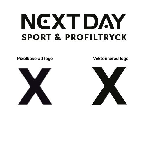 Pixel vs vektor Next Day Profiltryck & Gravyr
