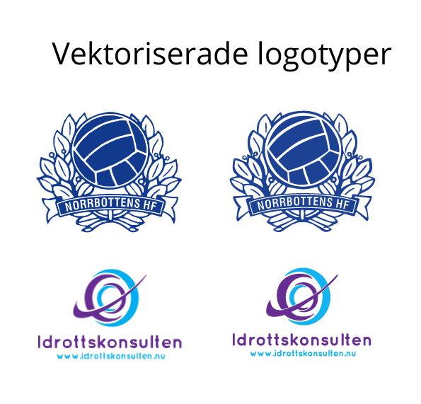 Vektorbaserad logotyp Next day Profiltryck & Gravyr